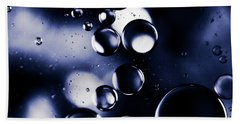 deep purple blue tones Macro Water Droplets Beach Towel by Sharon Mau