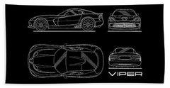Viper Blueprint Beach Towel by Mark Rogan