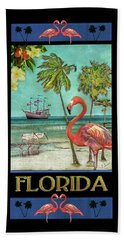 Beach Towel featuring the photograph Florida Advertisement by Hanny Heim