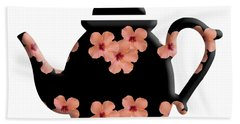 Hibiscus Pattern Teapot Beach Towel