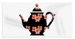 Hibiscus Pattern Teapot Beach Sheet