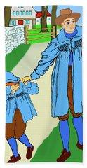 Baa, Baa, Black Sheep Nursery Rhyme Beach Sheet by Marian Cates