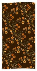 Autumn Flower Explosion Beach Sheet by Methune Hively