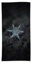 Real Snowflake Photo - The Shard Beach Sheet