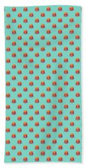 Burger Isometric - Plain Mint Beach Towel