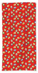 Beach Towel featuring the digital art Colorful Circus Clown Balloons  by MM Anderson