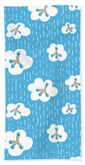 Clouds And Methane Molecules Pattern Beach Towel