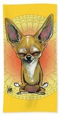 Meditating Chihuahua Beach Towel