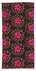 Abstract Whimsical Watercolor Pink Flower Beach Sheet