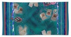 Surreal Lake Art And Poem Beach Sheet