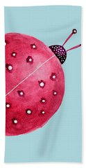 Beautiful Abstract Watercolor Ladybug Beach Towel
