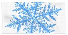 Snowflake Vector - Silverware White Beach Sheet