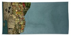 Of Houses And Hills Beach Towel