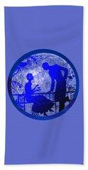 Beach Towel featuring the digital art Blue Moonlight Lovers by Deleas Kilgore