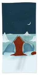 Knitting Narwhals Beach Towel