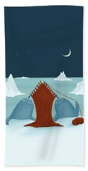 Knitting Narwhals Beach Towel
