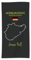 The Nurburgring Nordschleife Beach Towel