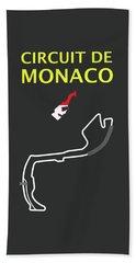 Circuit De Monaco Beach Towel