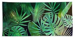 Exotique Leaves Beach Towel