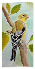 Pretty American Goldfinch Beach Towel