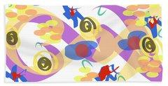 Beach Towel featuring the digital art Abstract Garden #5 by Bee-Bee Deigner