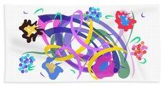 Beach Towel featuring the digital art Abstract Garden #2 by Bee-Bee Deigner