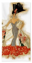 Elegant Woman Beach Towel