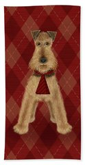 A Is  For Airedale Beach Sheet