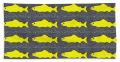Beach Towel featuring the photograph Yellow Fish by Ethna Gillespie