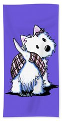 Dressed To Kilt Westie Beach Towel