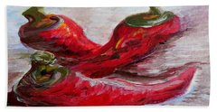 Poppin' Peppers Beach Towel