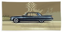 1961 Cadillac Fleetwood Sixty-special Beach Towel