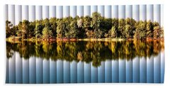 When Nature Reflects - The Slat Collection Beach Towel by Bill Kesler
