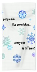 Snowflakes 3 Beach Sheet by Methune Hively