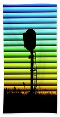 Signal At Dusk Beach Towel