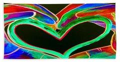 Universal Sign For Love Beach Sheet by Eloise Schneider