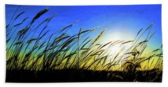 Tall Grass Beach Towel by Bill Kesler