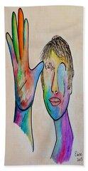 American Sign Language  Father Beach Sheet by Eloise Schneider