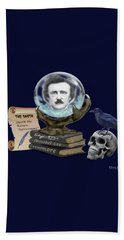 Spirit Of Edgar A. Poe Beach Sheet by Glenn Holbrook