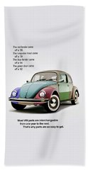 Vw Parts Beach Towel