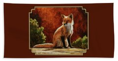 Sun Fox Beach Towel by Crista Forest
