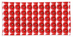 Beautiful Red Poppy Papaver Rhoeas Beach Towel