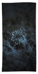 Beach Towel featuring the photograph Snowflake Photo - The Core by Alexey Kljatov