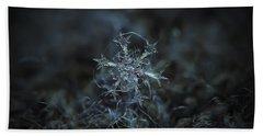 Snowflake Photo - Starlight Beach Sheet