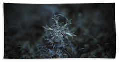 Beach Towel featuring the photograph Snowflake Photo - Starlight by Alexey Kljatov