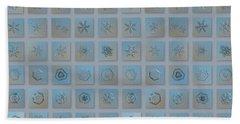 Snowflake Collage - Season 2013 Bright Crystals Beach Sheet