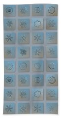 Snowflake Collage - Season 2013 Bright Crystals Beach Towel by Alexey Kljatov
