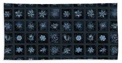 Snowflake Collage - Season 2013 Dark Crystals Beach Towel