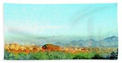 Arzachena Landscape With Mountains Beach Sheet