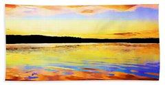 As Above So Below - Digital Paint Beach Sheet